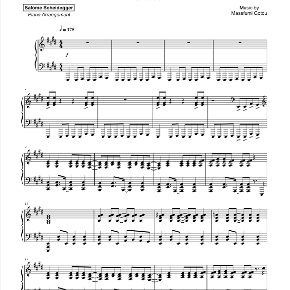 Haruka Kanata Sheet Music Screenshot